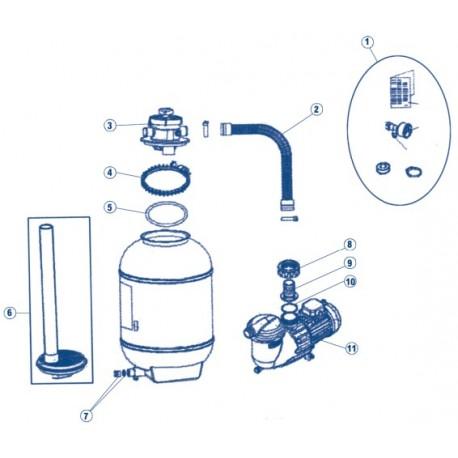 Recambios / Repuestos filtro monobloc compacto ASTRALPOOL piscinas