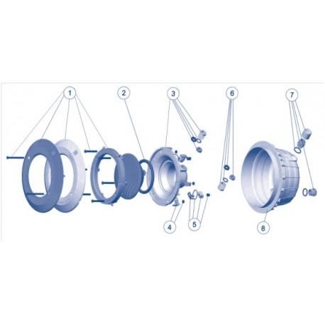 Recambios / Repuestos proyector foco con nicho AstralPool piscinas