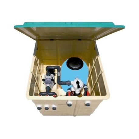 Caseta completa montada con filtro + bomba Kripsol para piscina