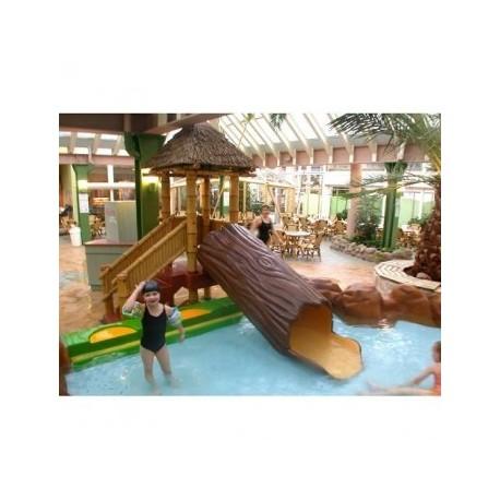 Choza parques acuaticos mod. choza bambú con tronco