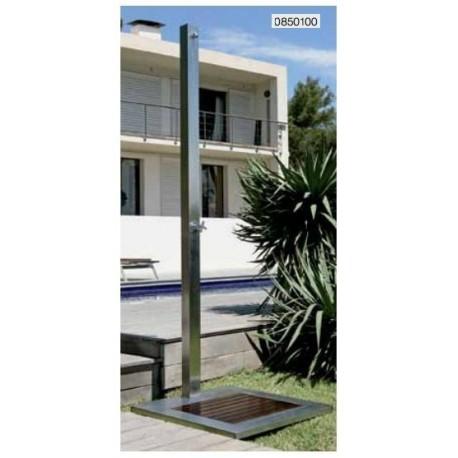 Ducha de diseño elegante en acero inoxidable para piscinas