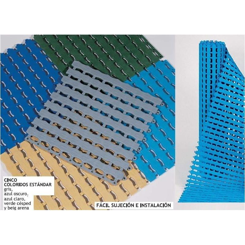 Suelo losetas enrollable antideslizante para piscinas for Suelos para banos antideslizantes