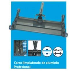 Carro limpiafondos para piscinas aluminio profesional